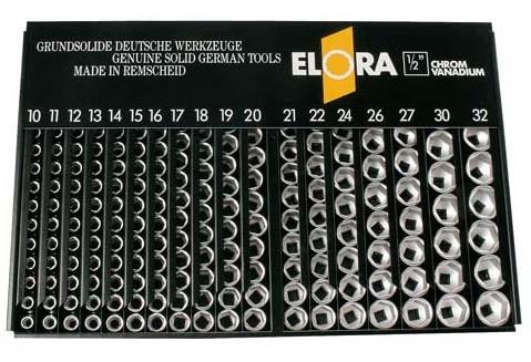 """Verkaufsständer mit 1/2"""" 6-kt. mm-Einsätzen, ELORA-771-LSP1M"""