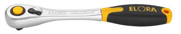 """Hebelumschaltknarre 1/4"""", feinverzahnt mit Sicherheitsverriegelung, ELORA-1450-1D"""