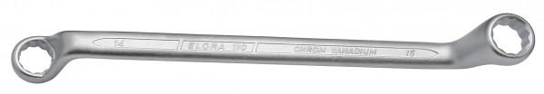 Doppelringschlüssel DIN 838, ELORA-110-24x27 mm