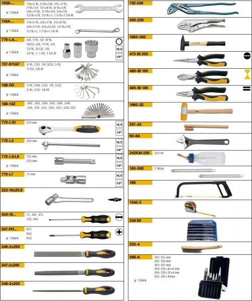 Werkzeugsortiment 89-teilig, ELORA-WS-2A